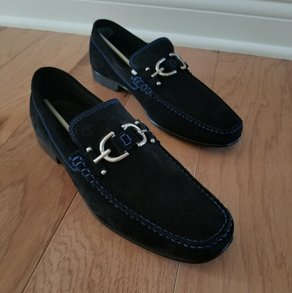0f9d595610ab1 NEW Donald J. Pliner sz 10M black suede loafer